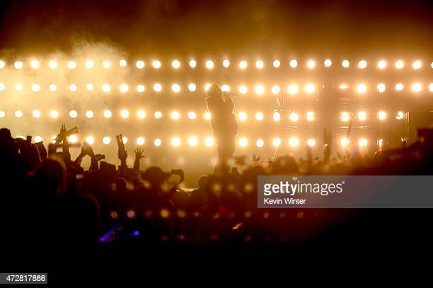 Rapper Kanye West performs onstage during 1027 KIIS FM's 2015 Wango Tango at StubHub Center on May 9 2015 in Los Angeles California