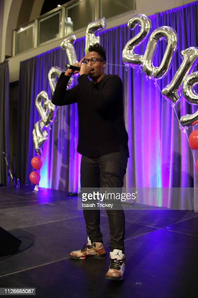 Rapper Kardinal Offishall performs during the 5th Annual Black Arts and Innovation Expo at Toronto's Arcadian Court on February 21 2019 in Toronto...