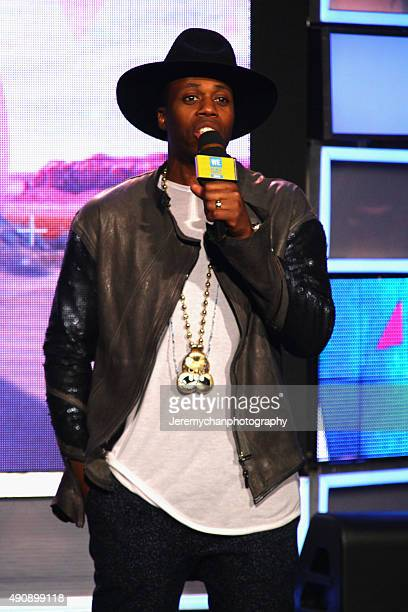 Rapper Kardinal Offishall speaks during WE Day Toronto at the Air Canada Centre on October 1 2015 in Toronto Canada