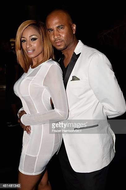 Rapper Karlie Redd and Thomas Reynolds attend the BET AWARDS '14 at Nokia Theatre LA LIVE on June 29 2014 in Los Angeles California