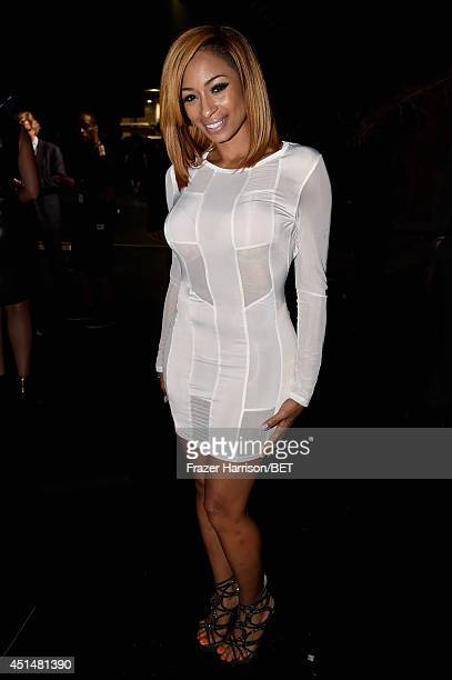 Rapper Karlie Redd attends the BET AWARDS '14 at Nokia Theatre LA LIVE on June 29 2014 in Los Angeles California