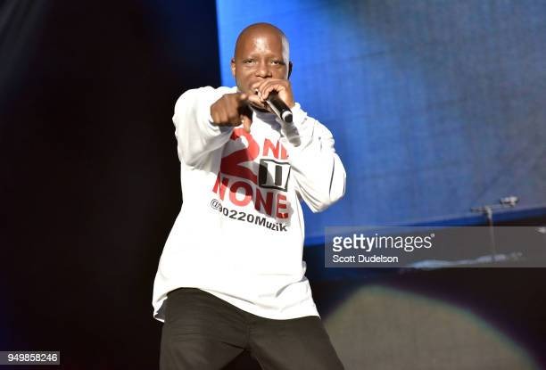 Rapper Kelton McDonald of the hip hop duo 2nd II None performs onstage during the KDay 935 Krush Groove concert at The Forum on April 21 2018 in...