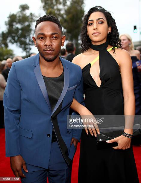 Rapper Kendrick Lamar attends the 56th GRAMMY Awards at Staples Center on January 26 2014 in Los Angeles California