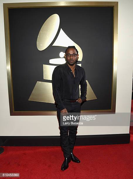 Rapper Kendrick Lamar attends The 58th GRAMMY Awards at Staples Center on February 15 2016 in Los Angeles California