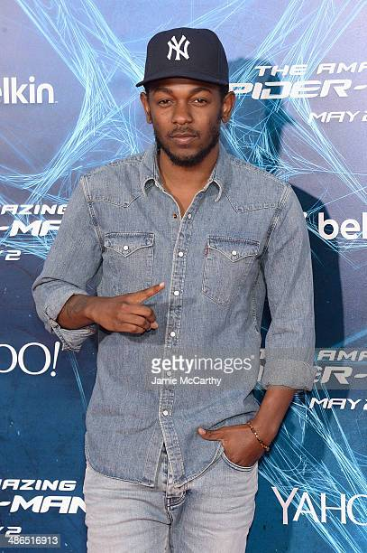 Rapper Kendrick Lamar attends 'The Amazing SpiderMan 2' premiere at the Ziegfeld Theater on April 24 2014 in New York City