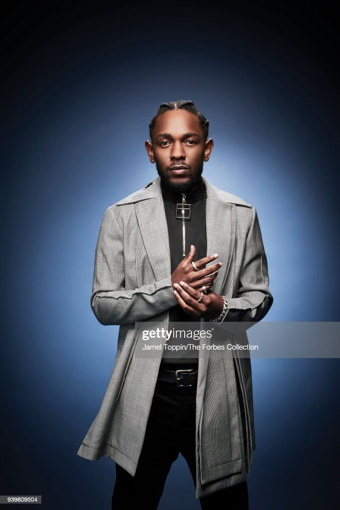 Rapper Kendrick Lamar is photographed for Forbes Magazine on October 3, 2017 in New York City. COVER IMAGE.