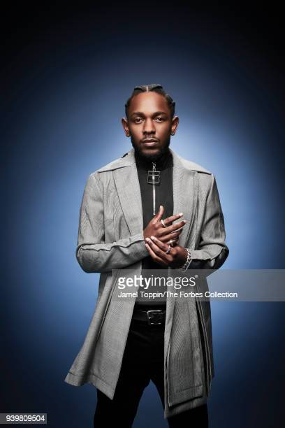 Rapper Kendrick Lamar is photographed for Forbes Magazine on October 3 2017 in New York City COVER IMAGE CREDIT MUST READ Jamel Toppin/The Forbes...