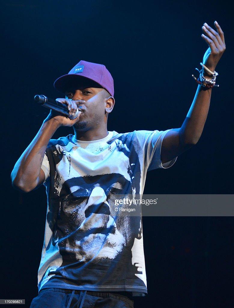 Rapper Kendrick Lamar performs during the 2013 KMEL Summer Jam at ORACLE Arena on June 9, 2013 in Oakland, California.