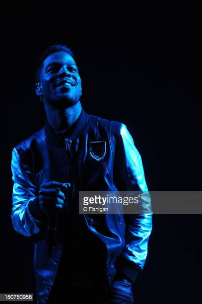 Rapper Kid Cudi performs during the 2012 Boost Mobile Guerilla Union Rock the Bells Music Festival powered by Blackberry at Shoreline Amphitheatre on...
