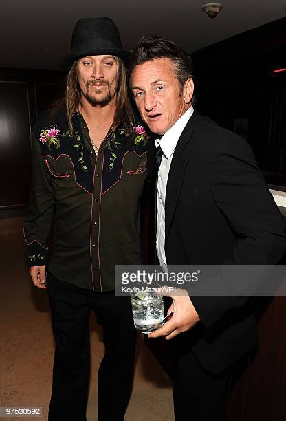 Rapper Kid Rock and actor Sean Penn attend the 2010 Vanity Fair Oscar Party hosted by Graydon Carter at the Sunset Tower Hotel on March 7, 2010 in...