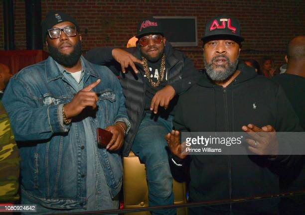 Rapper Killer Mike Big Boi and Khujo attend A Craft Syndicate Music Collaboration Unveiling Event at Opera Atlanta on December 10 2018 in Atlanta...