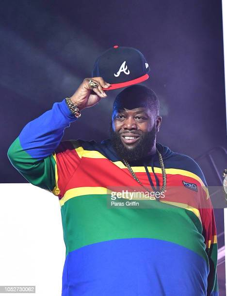Rapper Killer Mike of Run the Jewels performs in concert during So So Def 25th Cultural Curren$y Tour at State Farm Arena on October 21 2018 in...