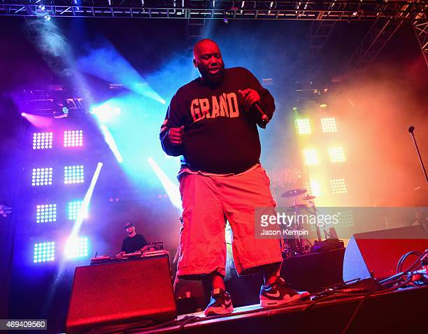 Rapper Killer Mike of Run the Jewels performs onstage during day 2 of the 2015 Coachella Valley Music Arts Festival at the Empire Polo Club on April...