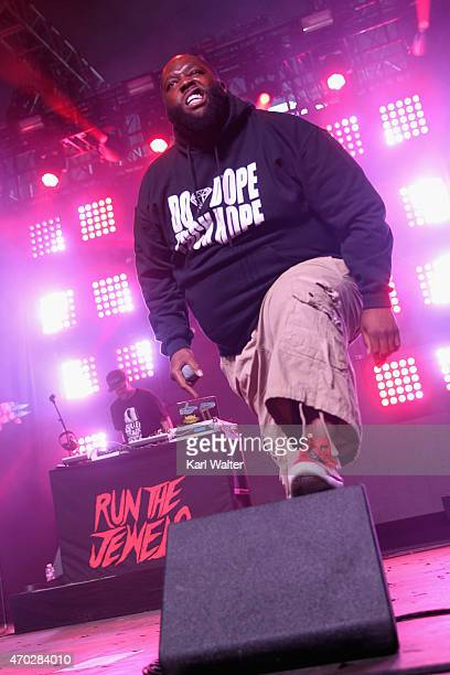 Rapper Killer Mike of Run The Jewels performs onstage during day 2 of the 2015 Coachella Valley Music And Arts Festival at The Empire Polo Club on...