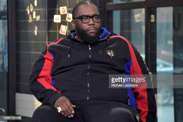 Rapper Killer Mike visits Build to discuss his series Trigger Warning with Killer Mike at Build Studio on January 18 2019 in New York City