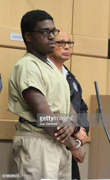Rapper Kodak Black during his sentencing hearing in connection with a violation of his house arrest in Fort Lauderdale Fla on Thursday May 4 2017 He...