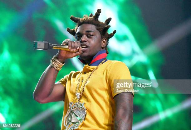 Rapper Kodak Black erforms onstage at the Rolling Loud Festival at NOS Events Center on December 16 2017 in San Bernardino California