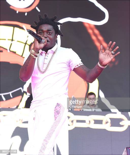 Rapper Kodak Black is seen backstage during the Rolling Loud Festival at Shoreline Amphitheatre on October 22 2017 in Mountain View California