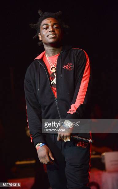 Rapper Kodak Black performs during the Nick Cannon's Wild N Out Tour at CFE Arena on September 23 2017 in Orlando Florida Nick Cannon and the members...