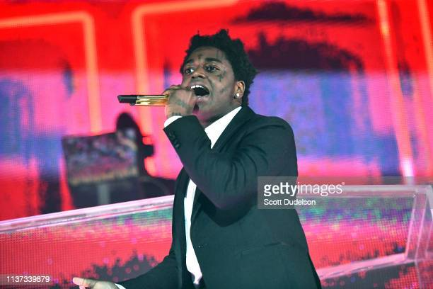 Rapper Kodak Black performs onstage during the 'Dying to Live' tour at Hollywood Palladium on March 20 2019 in Los Angeles California
