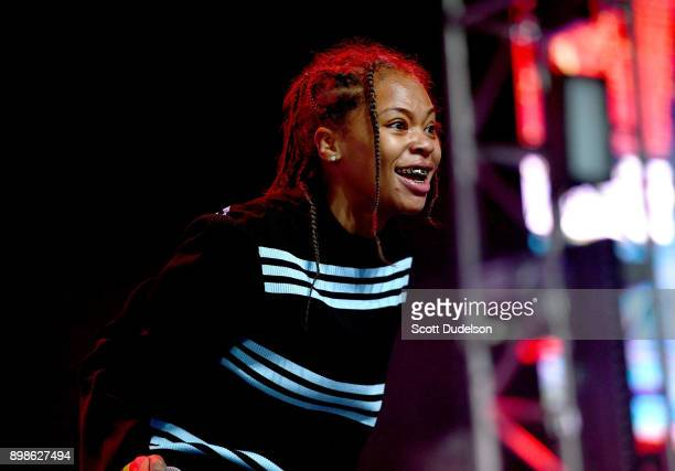 Rapper Kodie Shane performs onstage at the Rolling Loud Festival at NOS Events Center on December 16 2017 in San Bernardino California