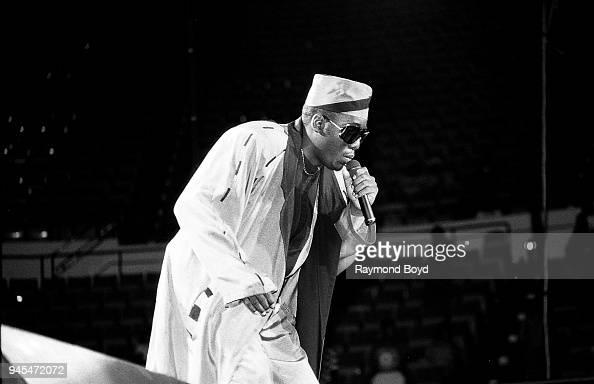 Rapper Kool Moe Dee performs at Market Square Arena in ...