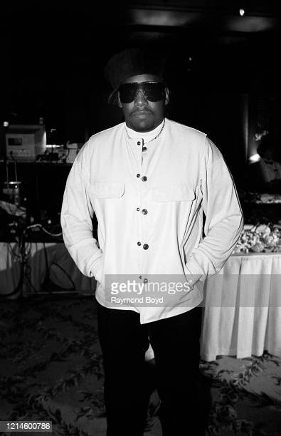 Rapper Kool Moe Dee poses for photos at the Soul Train Awards Sprite Night Party at the Sheraton Grand Hotel in Los Angeles, California in March 1995.