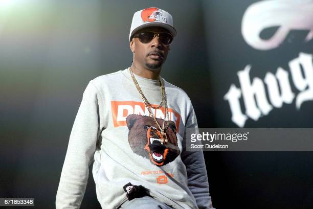 Rapper Krayzie Bone of Bone Thugsn Harmony performs onstage during the 935 KDAY Krush Groove 2017 concert at The Forum on April 22 2017 in Inglewood...