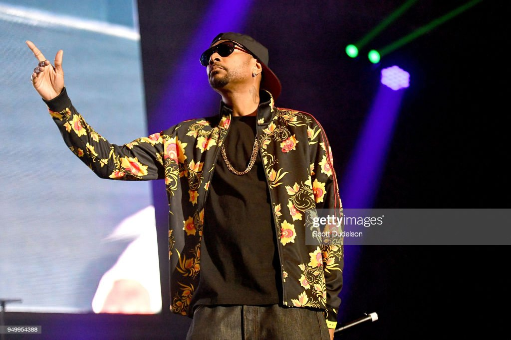 Rapper Krayzie Bone of Bone Thugs-n-Harmony performs onstage during the KDay 93.5 Krush Groove concert at The Forum on April 21, 2018 in Inglewood, California.