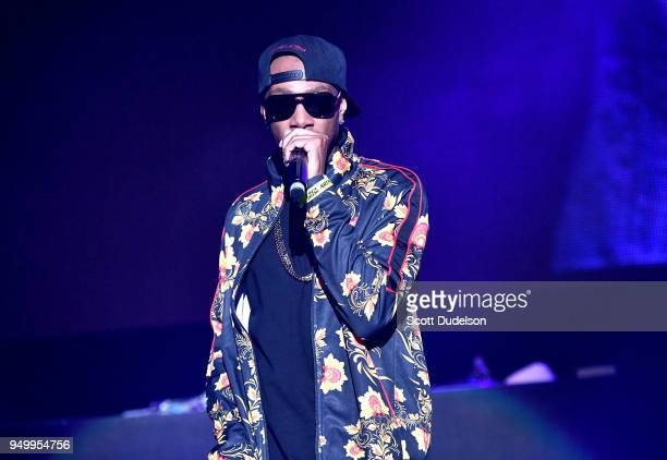 Rapper Krayzie Bone of Bone ThugsnHarmony performs onstage during the KDay 935 Krush Groove concert at The Forum on April 21 2018 in Inglewood...