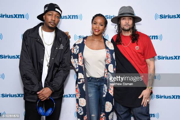 Rapper Krayzie Bone singer LeToya Luckett and rapper Bizzy Bone visit SiriusXM Studios on April 19 2017 in New York City