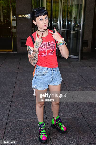 Rapper Kreayshawn leaves the Sirius XM Studios on August 13 2012 in New York City
