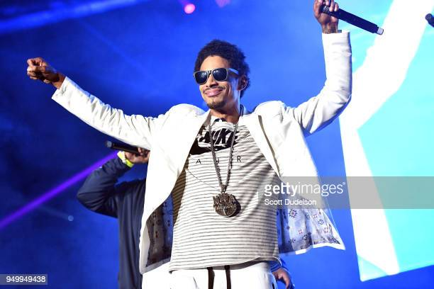 Rapper Layzie Bone of Bone ThugsnHarmony performs onstage during the KDay 935 Krush Groove concert at The Forum on April 21 2018 in Inglewood...