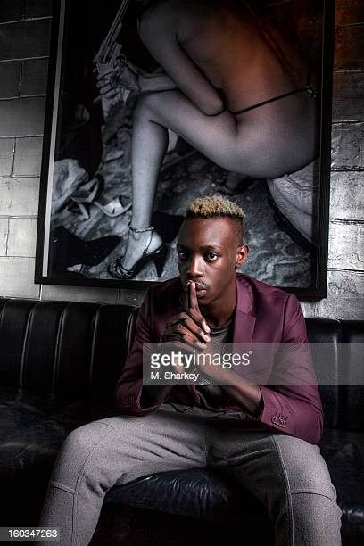 Rapper Le1f is photographed for Out Magazine on August 21 2012 at the Electric Room in the Dream Downtown Hotel in New York City PUBLISHED IMAGE