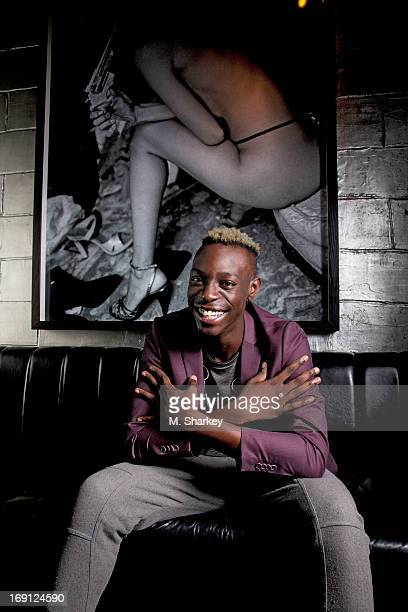 Rapper Le1f is photographed for Out Magazine on August 21 2012 at the Electric Room in the Dream Downtown Hotel in New York City