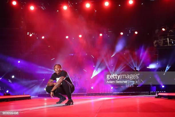 Rapper Lecrae performs at Pulse Twin Cities at US Bank Stadium on May 18 2018 in Minneapolis Minnesota