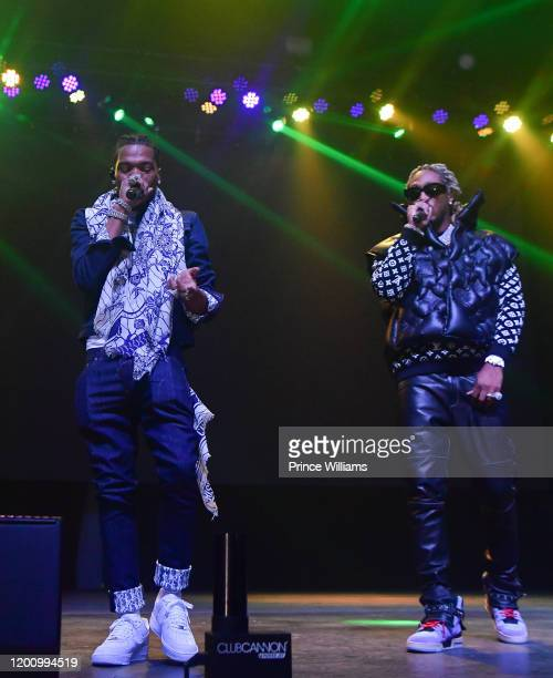 "Rapper Lil Baby and Future perform at ""No Place Like Home"" Concert Featuring Future & Lil Baby at Coca Cola Roxy on January 19, 2020 in Atlanta,..."
