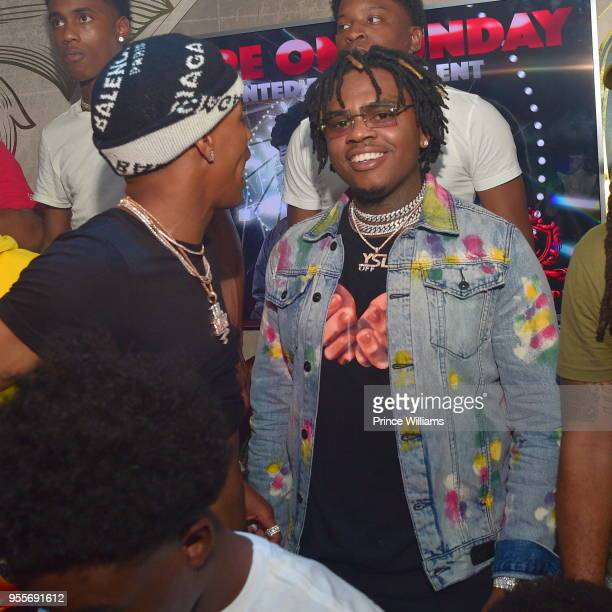 Rapper Lil Baby and Rapper Gunna attend a party at Empire on May 7 2018 in Atlanta Georgia