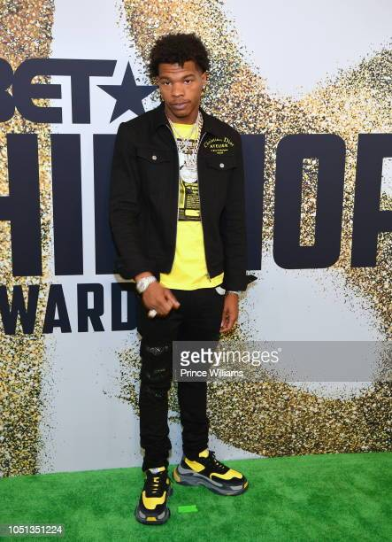 Rapper Lil Baby arrives at the BET Hip Hop Awards 2018 at Fillmore Miami Beach on October 6 2018 in Miami Beach Florida