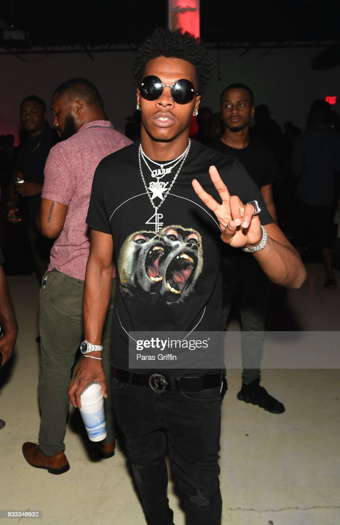 Rapper Lil Baby at Young Thug Private Birthday Celebration at Tago International on August 16, 2017 in Atlanta, Georgia.