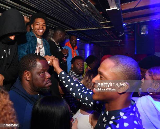 Rapper Lil Baby attends 2019 All Star Weekend Party hosted by Lil Baby Fabolous at Oak on February 16 2019 in Charlotte North Carolina