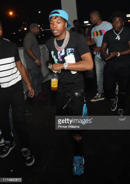 Rapper Lil Baby attends Bad Boy Quality Control Takeover at Gold Room on September 14 2019 in Atlanta Georgia