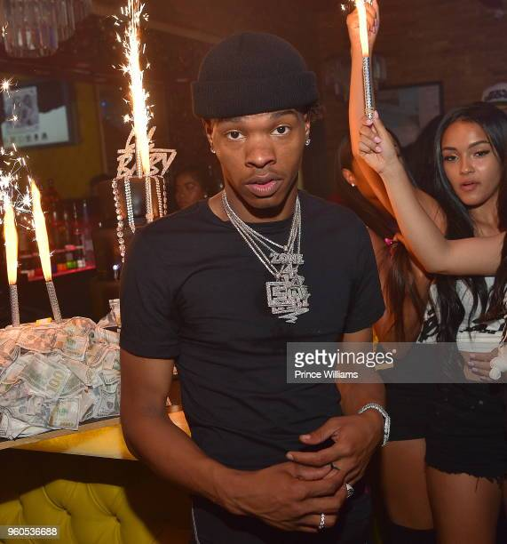 Rapper Lil Baby attends Lil Baby Harder Than Ever Mixtape Release Event at Living Room Lounge on May 17 2018 in Atlanta Georgia