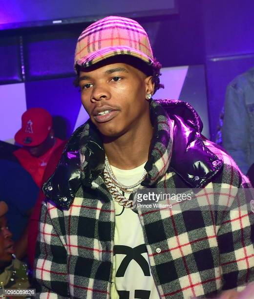 Rapper Lil Baby attends the 2nd annual No Cap Tuesday at Gold Room on January 16 2019 in Atlanta Georgia