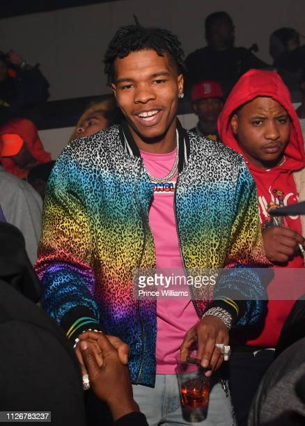 Rapper Lil Baby attends the Official Big Game Kick Off Weekend Hosted by Lil BabayGunna at Gold Room on February 1 2019 in Atlanta Georgia