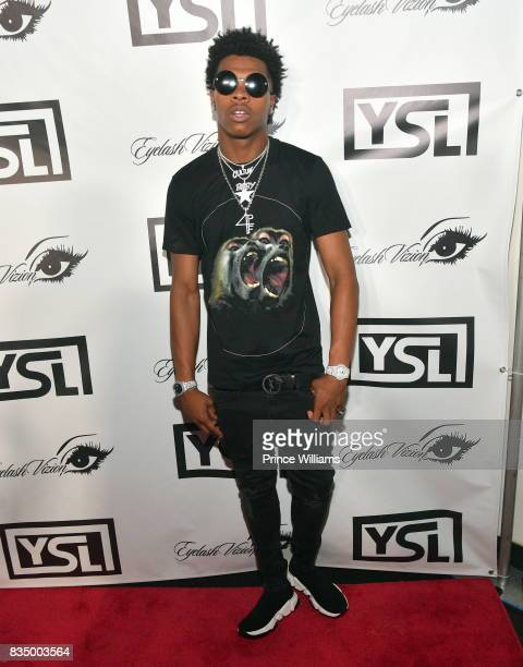 Rapper Lil Baby attends Young Thug's birthday party at Tago International on August 16 2017 in Atlanta Georgia