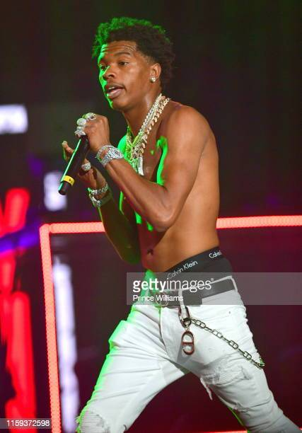 Rapper Lil Baby performs at Hot 1079 Birthday Bash 2019 at State Farm Arena on June 15 2019 in Atlanta Georgia