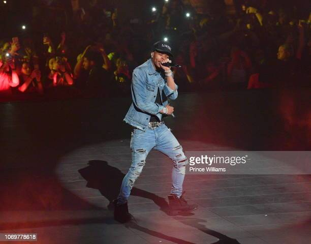 Rapper Lil Baby performs onstage during the Final Stop of 'Aubrey The three Amigos Tour' at State Farm Arena on November 18 2018 in Atlanta Georgia