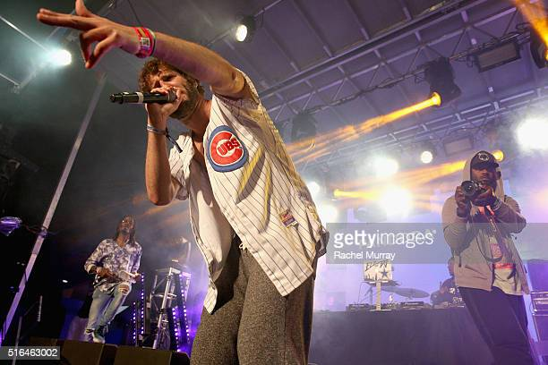 Rapper Lil Dicky performs onstage during the PANDORA Discovery Den SXSW on March 18 2016 in Austin Texas
