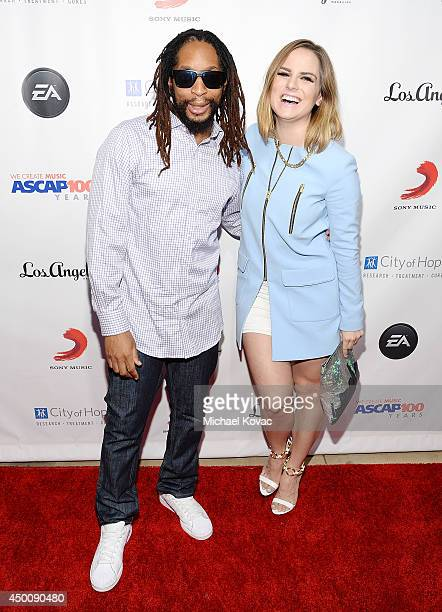 Rapper Lil Jon and musician JoJo arrive at City of Hope's 10th Anniversary Songs Of Hope on June 4 2014 in Brentwood California